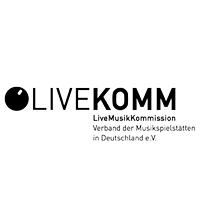 Logo Livekomm Verband der Musikspielstätten in Deutschland e.V.